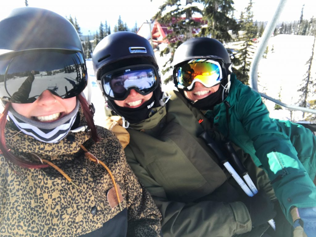Three ski bums living the season dream
