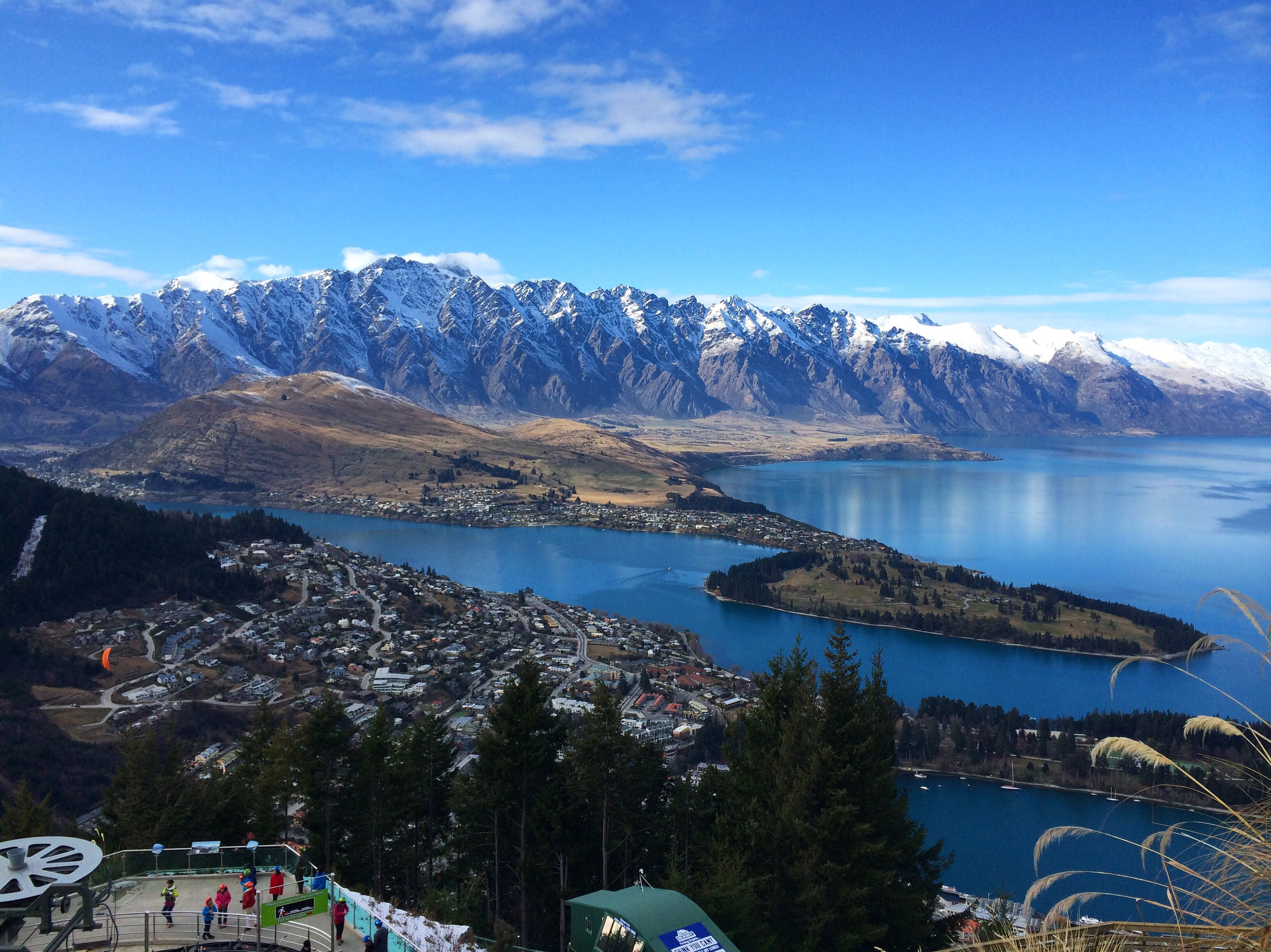 Queenstown from above at the top of Skyline Gondola