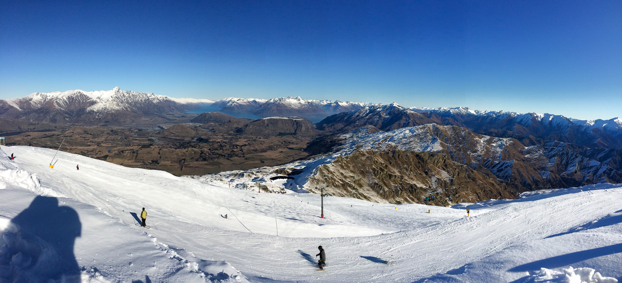 The views of Arrowtown and Queenstown from Coronet Peak