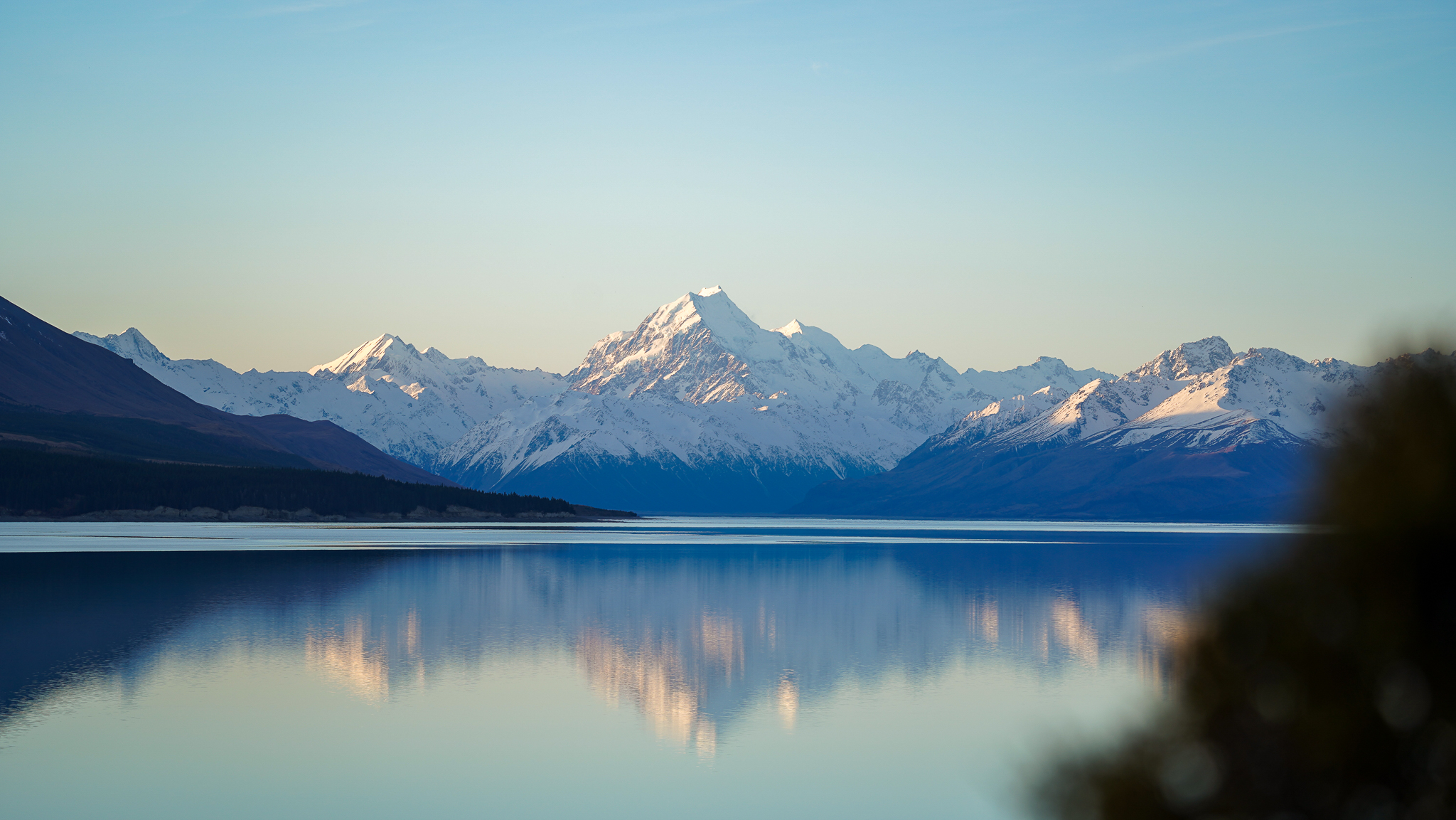 Mount Cook over Lake Pukaki at sunset the epitome of New Zealand's South Island